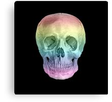 Albinus Skull 02 - Over The Rainbow - Black Background Canvas Print