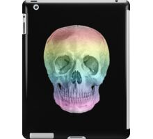 Albinus Skull 02 - Over The Rainbow - Black Background iPad Case/Skin