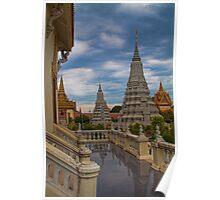 Cambodia. Phnom Pehn. Royal Palace. Stupas. Poster