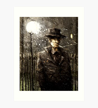 The man with a hat Art Print