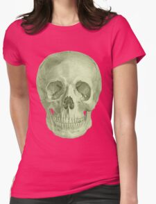 Albinus Skull 03 - Zombie Attack - Black Background Womens Fitted T-Shirt