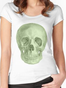 Albinus Skull 03 - Zombie Attack - White Background Women's Fitted Scoop T-Shirt