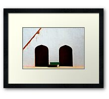 Sit down next to me  Framed Print