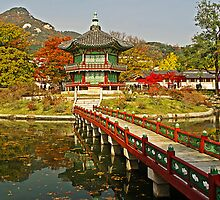 Footbridge to Hyangwonjeong Pavilion by TonyCrehan