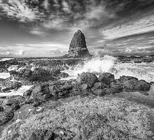 Pulpit Rock B&W by Richard  Cubitt