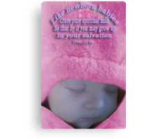 *•.¸♥♥¸.•*FOR THE LOVE OF A BABY BIBLICAL*•.¸♥♥¸.•* Canvas Print