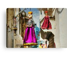 Rajasthan puppets Canvas Print