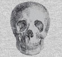 Albinus Skull 04 - Never Seen Before Genius Diamonds  - White Background One Piece - Long Sleeve