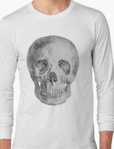 Albinus Skull 04 - Never Seen Before Genius Diamonds  - White Background Long Sleeve T-Shirt