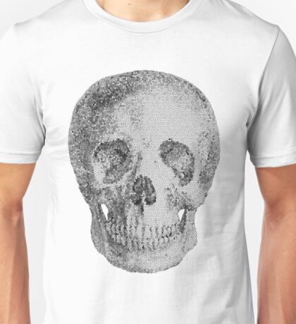Albinus Skull 04 - Never Seen Before Genius Diamonds  - White Background Unisex T-Shirt