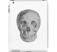 Albinus Skull 04 - Never Seen Before Genius Diamonds  - White Background iPad Case/Skin