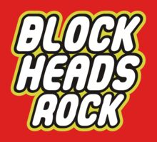 BLOCK HEADS ROCK in brick font by Customize My Minifig by ChilleeW