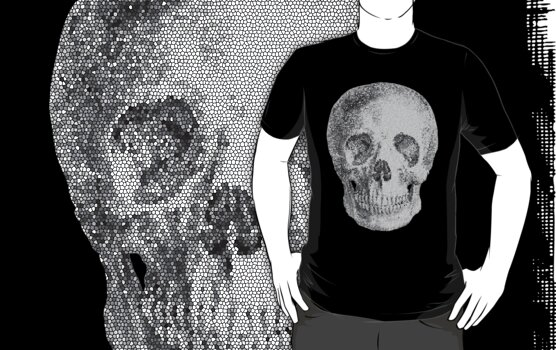 Albinus Skull 04 - Never Seen Before Genius Diamonds - Black Background by sivieriart
