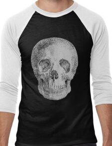 Albinus Skull 04 - Never Seen Before Genius Diamonds - Black Background Men's Baseball ¾ T-Shirt