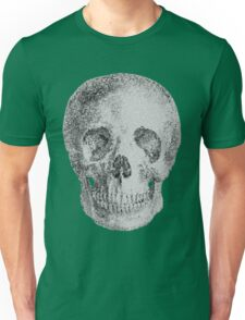 Albinus Skull 04 - Never Seen Before Genius Diamonds - Black Background Unisex T-Shirt