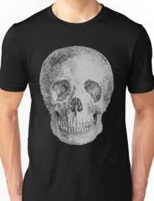 Albinus Skull 04 - Never Seen Before Genius Diamonds - Black Background Unisex T-Shirt