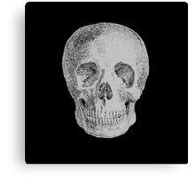 Albinus Skull 04 - Never Seen Before Genius Diamonds - Black Background Canvas Print