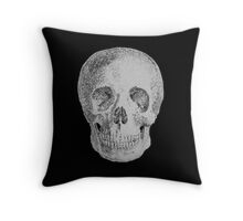 Albinus Skull 04 - Never Seen Before Genius Diamonds - Black Background Throw Pillow