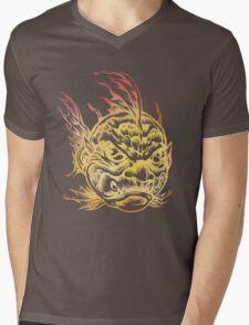 Bright Fish Face Monster 2013 Mens V-Neck T-Shirt