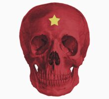 Albinus Skull 05 - Red Comunist Legend - White Background by sivieriart