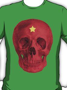 Albinus Skull 05 - Red Comunist Legend - White Background T-Shirt