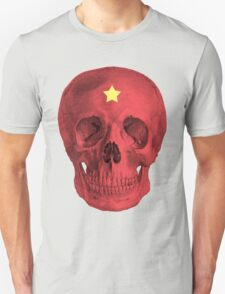 Albinus Skull 05 - Red Comunist Legend - White Background Unisex T-Shirt