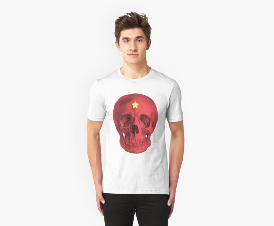 Albinus Skull 05 - Red Comunist Legend - White Background by sivieriart
