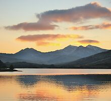 Snowdon From Llynnau Mymbyr, Capel Curig, North Wales 5 by Matthew Floyd