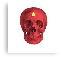 Albinus Skull 05 - Red Comunist Legend - White Background Canvas Print