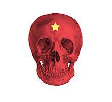 Albinus Skull 05 - Red Comunist Legend - White Background Photographic Print