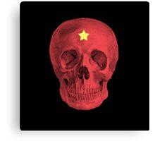 Albinus Skull 05 - Red Comunist Legend - Black Background Canvas Print