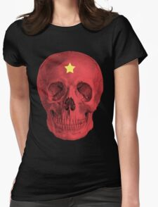 Albinus Skull 05 - Red Comunist Legend - Black Background T-Shirt