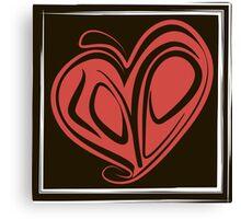 Love typography Canvas Print