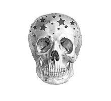 Albinus Skull 06 - Wannabe Star - White Background Photographic Print