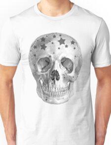 Albinus Skull 06 - Wannabe Star - Black Background Unisex T-Shirt