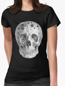 Albinus Skull 06 - Wannabe Star - Black Background Womens Fitted T-Shirt