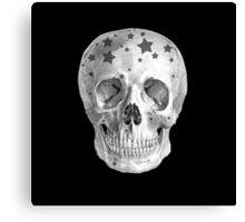 Albinus Skull 06 - Wannabe Star - Black Background Canvas Print