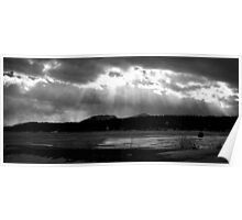 Cloud Break Over the Lake Poster
