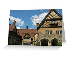 Eyes in the Roofline at Cecilienhof Potsdam Germany Greeting Card