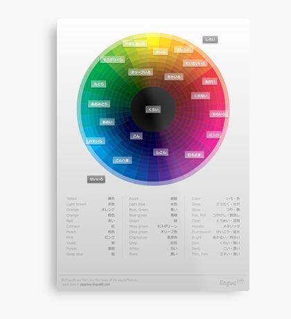 Japanese colour names cheat sheet & poster Metal Print