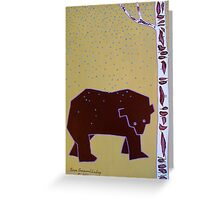 Bear in the Rain Greeting Card