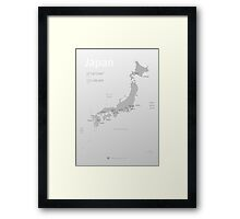 Map of Japan poster Framed Print
