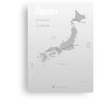 Map of Japan poster Canvas Print