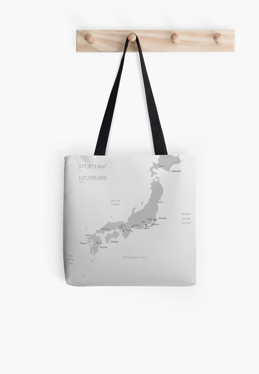 Map of Japan poster by Philip Seifi