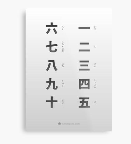 Japanese numbers cheat sheet & poster Metal Print