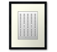Japanese hiragana & katakana cheat sheet & poster Framed Print