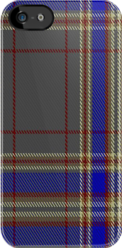 00822 West Coast Woven Mills Fashion Tartan #1543 Fabric Print Iphone Case by Detnecs2013