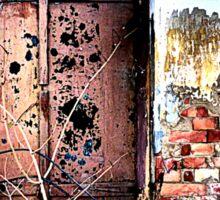 Old brickwork & shutters tell a story Sticker