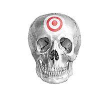 Albinus Skull 07 - Focused Mind - White Background Photographic Print