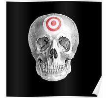 Albinus Skull 07 - Focused Mind - Black Background Poster
